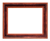široká dřevěná tmavě hnědé fotorámeček — Stock fotografie