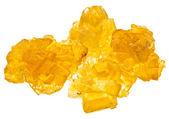Piezas de azúcar de caramelo cristalino amarillo — Foto de Stock