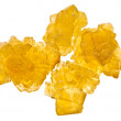 Stock Photo: Pieces of yellow crystalline caramel sugar
