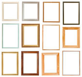 Set of vertical picture frames — Stock Photo