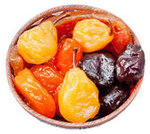 Armenian sugared sweet fruits in bowl — Stock Photo