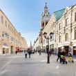 Renovated Nikolskaya street in Moscow — Stock Photo