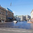 Panorama of Tverskaya street in Moscow — Stock Photo #34342261