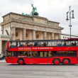 Red tourist double decker bus in Berlin — Stock Photo
