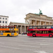 Two tourist double decker buses in Berlin — Stock Photo