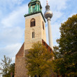 Stock Photo: Facade Marienkirche (St. Mary Church) in Berlin