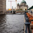Spree river waterfront and Berliner Dom in Berlin — Stock Photo