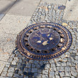 Sewer manhole cover in Berlin — Stock Photo