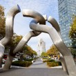 Sculpture Berlin on Tauentzienstrasse in morning — Foto Stock
