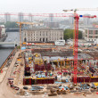 Stock Photo: Above view of urban building site