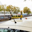 Taxi car on urban road — Stock Photo