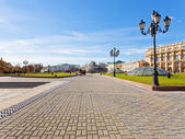 Manege Square in Moscow in autumn day — Stock Photo
