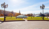 Panorama of Manege Square in Moscow in autumn — Stock Photo