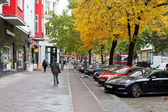 Potsdamer Strasse in Berlin in autumn — Stock Photo