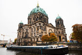 The Cathedral of Berlin and Spree river — Stock Photo