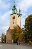 Facade Marienkirche (St. Mary Church) in Berlin — Stock Photo
