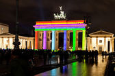Brandenburg gate anf festival of lights in Berlin — Стоковое фото