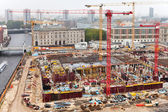 Above view of urban construction site — Stock Photo