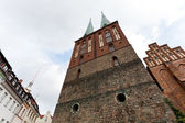 Tower of Nikolaikirche in Berlin — Stock Photo