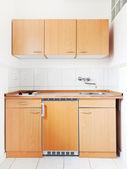 White kitchen with furniture set — Stock Photo