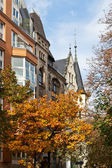 Autumn scenery of western Berlin street — Stock Photo