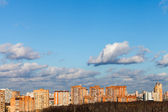 Autumn skyline with brick houses — Stock Photo