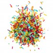 Decorating colored sugar sprinkles — Stock Photo