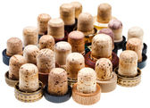 Used corks from strong drinks — Stock Photo