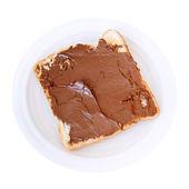 Sweet sandwich - toast with chocolate spread — 图库照片