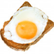 Sandwich from fried egg and toasted rye bread — Stock Photo #36103279