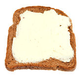 Top view of bread and butter sandwich — Stock Photo