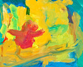 Children drawing - abstract painting background — Stock Photo