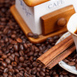 Foto de Stock  : Cup of coffee and roasted beans