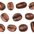 Stock Photo: Set of roasted coffee beans