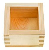 Wooden box masu for sake — Stock Photo