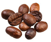 Many roasted coffee beans — Stock Photo