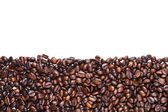 Roasted coffee beans close up — Stock Photo