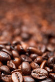 Background from many roasted coffee beans — Stock Photo