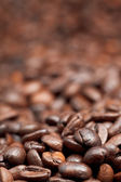 Heap of roasted coffee beans — Stock Photo