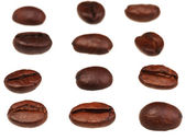 Rows and lines from roasted coffee beans — Stock Photo