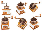 Vintage manual copper coffee mill — Stock Photo