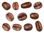 Set of roasted coffee beans — Stock Photo