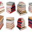Stock Photo: Set from different angles stacks of books