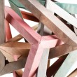 Stock Photo: Tangled knot of paper origami