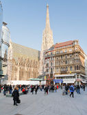 Side view of Stephansdom in Vienna — Stock Photo