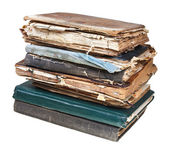 Stack of old used books — 图库照片