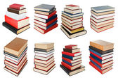 Set from different angles stacks of books — Stock Photo