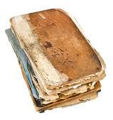 顶视图的堆栈旧书 — 图库照片