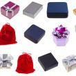 Set of different gift boxes — Stock Photo