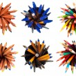 Set of top view pens and pencils — Stock Photo #37792987